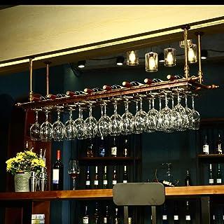 Cuelga Copas,Botella Copa,Copa Vino Botella, Colgador Stemware Rack Wine Glass Rack Under Cabinet Glasses Storage Hanger Hold Up 24 Glasses Metal Organizer For Bar Kitchen 100 * 30cm