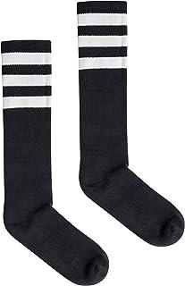 American Apparel Unisex Stripe Calf-High Sock, black/White, One Size