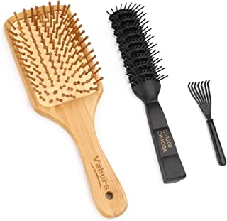 Hair Comb Set, Vaburs Natural Wood Hair Brush Hair Styling Tools for Men and Women Massage Comb