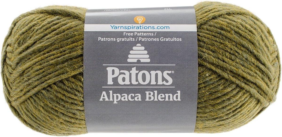 Elegant Patons Alpaca Phoenix Mall Blend Yarn - 5 Gauge Bulky Lichen 3.5oz Ma