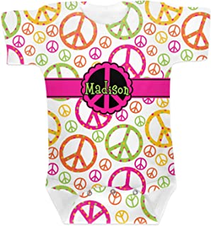RNK Shops Peace Sign Baby Onesie (Personalized)