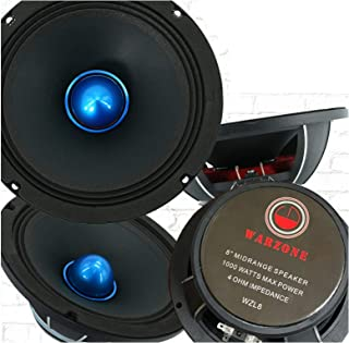 $148 » 4X Gravity WZL8 8″ Midrange Bullet Loud Speaker 1000 Watts Peak Power Handling 4 Ohm Impedance 106 dB Sensitivity Car Audi...