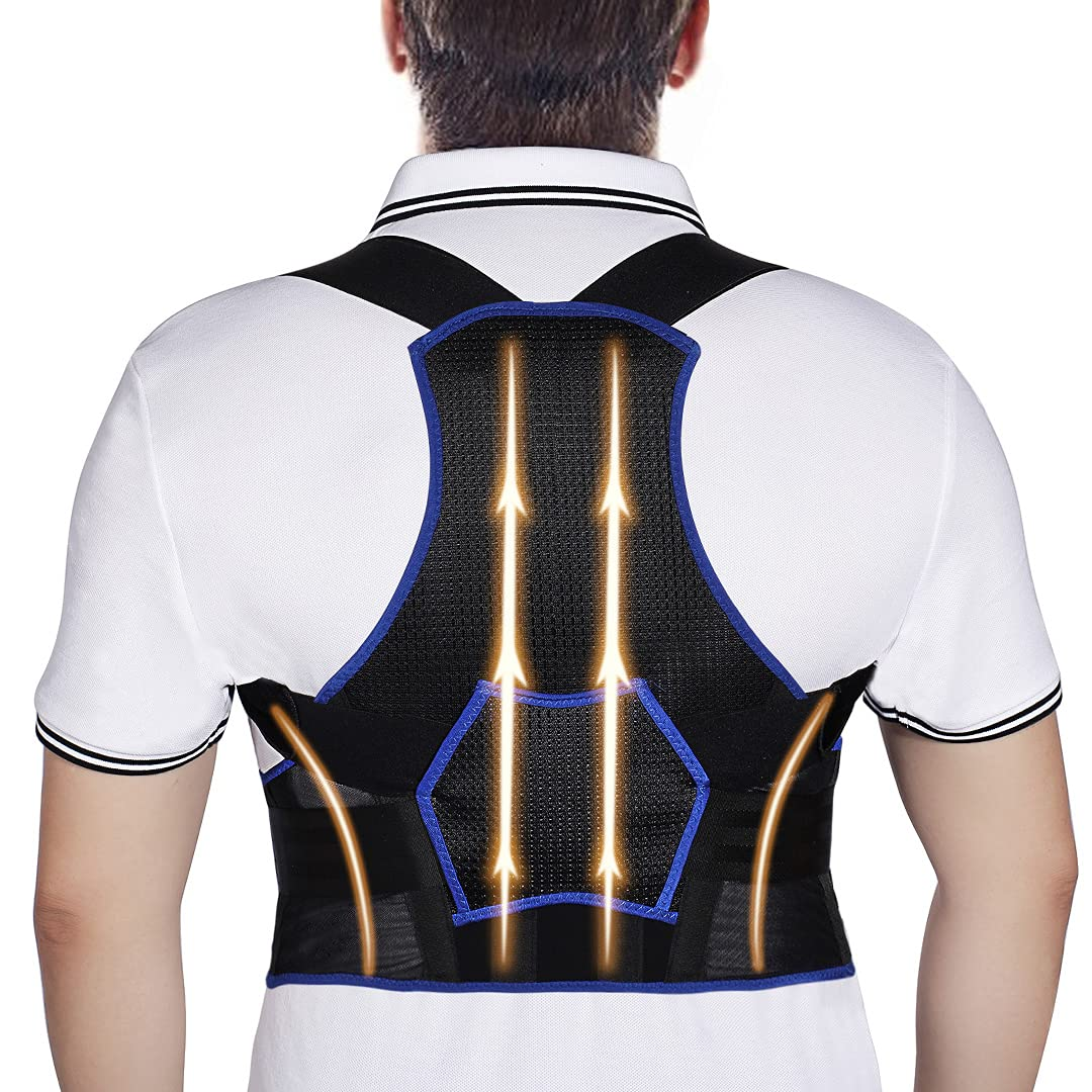 Posture Corrector for Women and Adjustable New mail order Fully Men Breathab Product