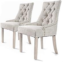 La Bella 2X French Provincial Oak Leg Chair Amour - Cream