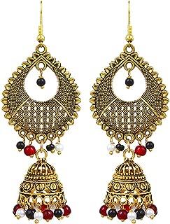 black jhumka earrings online