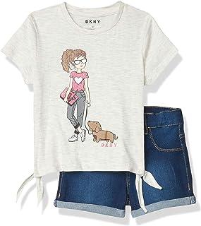 DKNY Girls' Shorts Set