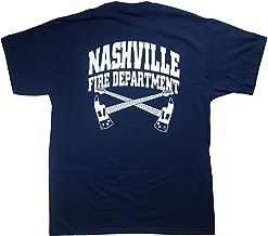 Wopson Men's Navy Nashville Fire Department T-Shirt