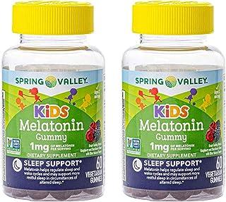 Spring Valley Kid's Melatonin 1 mg Sleep, 60 Vegetarian Gummies (Pack of 2)