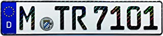 Z Plates Compatible with BMW Munich Front German License Plate with Hologram