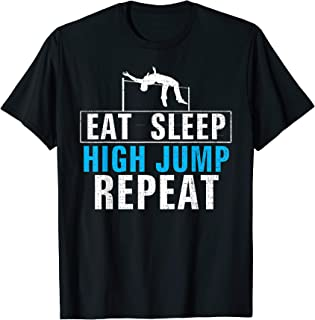 Vintage Eat Sleep High Jump Repeat Funny Track And Field T-Shirt