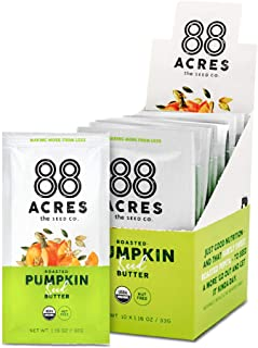88 Acres Organic Pumpkin Seed Butter | Keto-Friendly, Gluten Free, Dairy Free, Nut-Free Seed Butter Spread | Vegan & Non G...