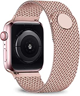 Compatible for Apple Watch Band 38mm 40mm 42mm 44mm, Adjustable Stainless Steel Mesh Wristband...