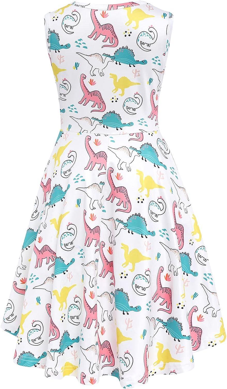 Girls Summer Tank Dress Mermaid Casaul Party Summer Swing Dresses Knee Length