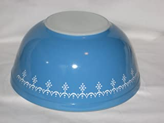 Vintage Pyrex Snowflake 2 1/2 Quart Glass Mixing Nesting Batter Bowl