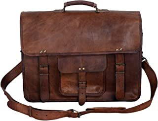 KPL 18 INCH Leather Briefcase Laptop Messenger Bag Satchel Office computer bag for men (16 INCH)