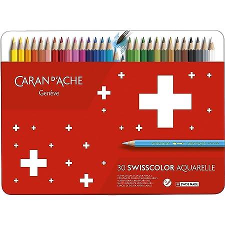 SG istruzione CD 1285 - 730 Caran d' Ache Swisscolor - Matita (confezione da 30), multicolore