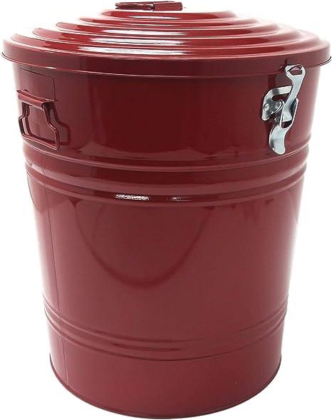 Amazon Com Houston International 5802e Xr Steel 16 Gallon Storage Container Red Lidded Home Storage Bins Garden Outdoor