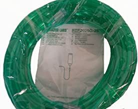25' Oxygen Tubing,Safety Channel, Green, (Pack of 5)