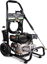 Pujua 4200PSI 2.8GPM Gas Pressure Washer Power Washer 212CC Gas Pressure Washer Powered, High-Pressure Hose 5 Nozzles, 2-Year Warranty (Black)