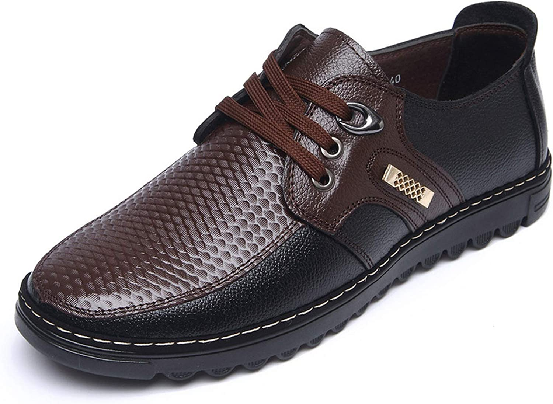 DATAYANG herr skor Sewing 2019 Tillfälliga Tillfälliga Tillfälliga skor Manliga Business Springaa Split Läther Fasta svarta skor Män klär upp Lace  gör rabattaktiviteter