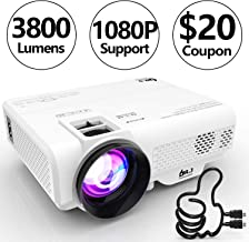DR. J Professional 3800L Full HD 1080P Portable Video Projector Supported Mini Projector..