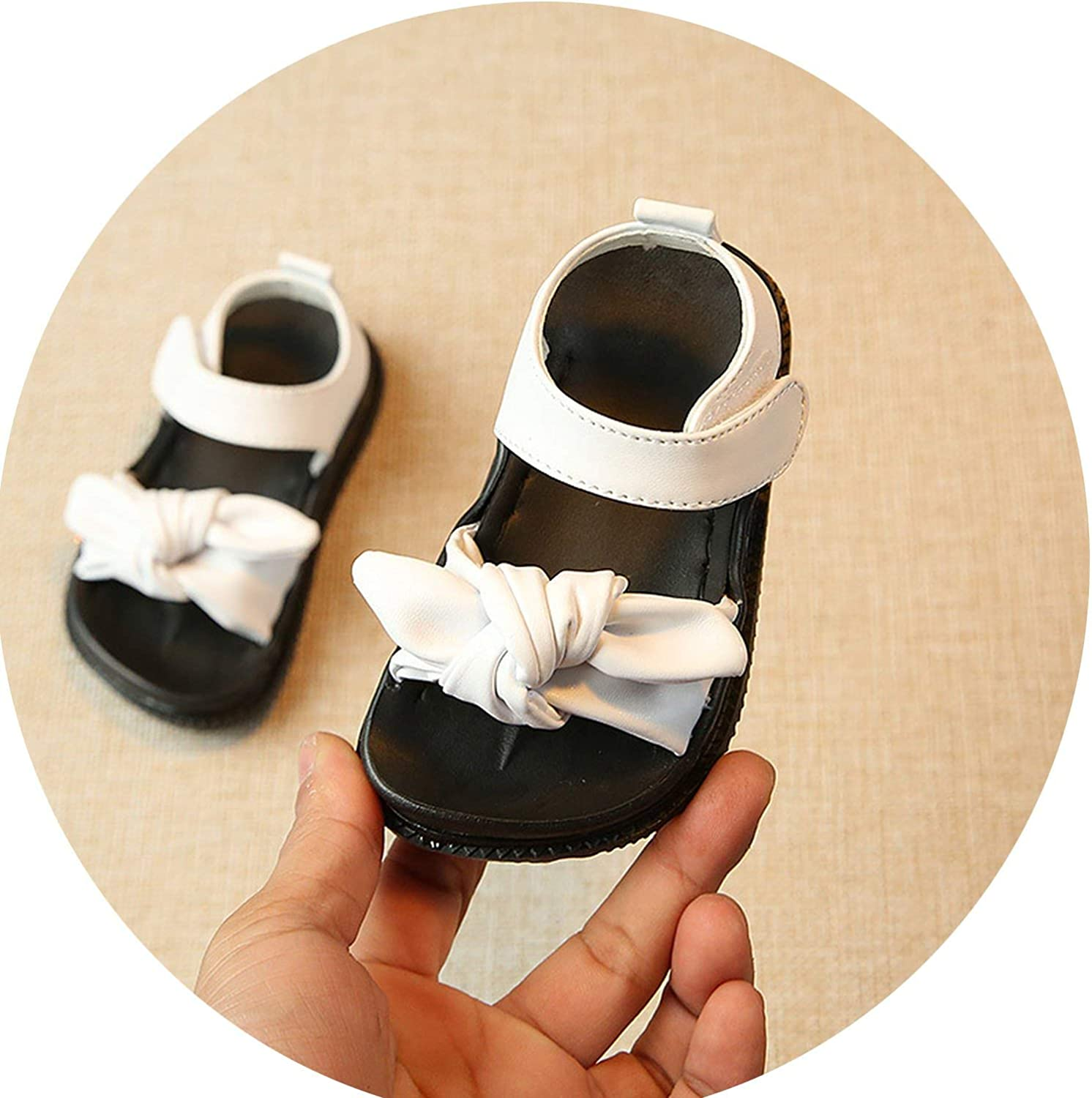 Tthappy76 0-6Y Baby Sandals Kids Girl White Sandals Pink Princess Casual PU Leather Fashion