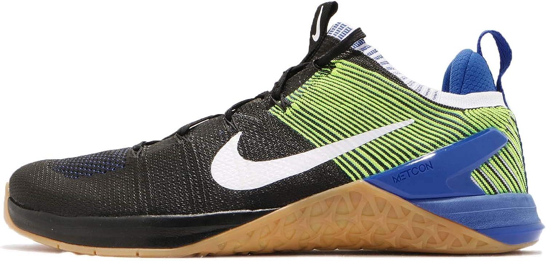 Nike Men's Metcon DSX Flyknit 2 Nylon Running shoes (12 M US, Black White Racer bluee Volt)