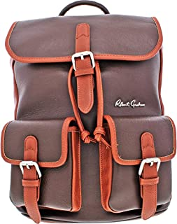 Robert Graham Alondra Men's Leather Two Tone Adjustable Rucksack Backpack