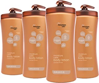 Mountain Falls Moisture Care: Body Lotion, Cocoa Divine, Pump Bottle, 24.5 Fluid Ounce (Pack of 4)
