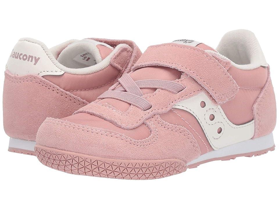 Saucony Kids Bullet Jr (Toddler/Little Kid) (Pink/Cream) Girl