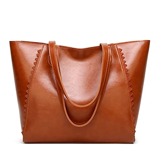 Work Handbags for Women Simple Pu Leather Top Handle Satchel Tote with  Sawtooth Rim c39c4f098db5b