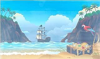 Pen Plax BGC2 Cling-On Pirate Ship Aquarium Background, 20