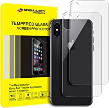 Singularity Products Back Screen Protector Compatible with iPhone Xs/iPhone X [2-Pack], Tempered Glass 3D Touch Anti-Fingerprint/Scratch Compatible with iPhoneXs/iPhoneX (5.8 inch)