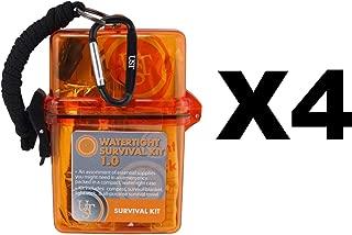 Ultimate Survival Technologies 20-727-01 Watertight Survival Kit 1.0, Orange - Quantity 4