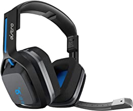 Logitech Astro A20 Wireless Headset Black/Blue - Playstation 4/PC/MAC (Renewed)