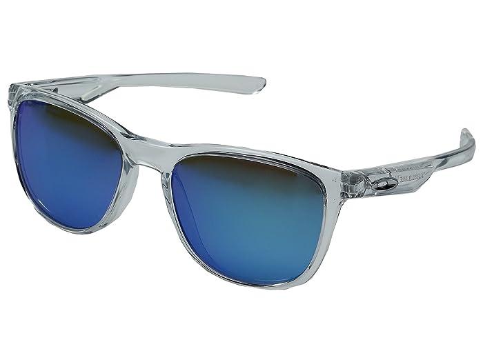 Oakley Trillbe X (Matte Clear/Sapphire Iridium Polarized) Fashion Sunglasses