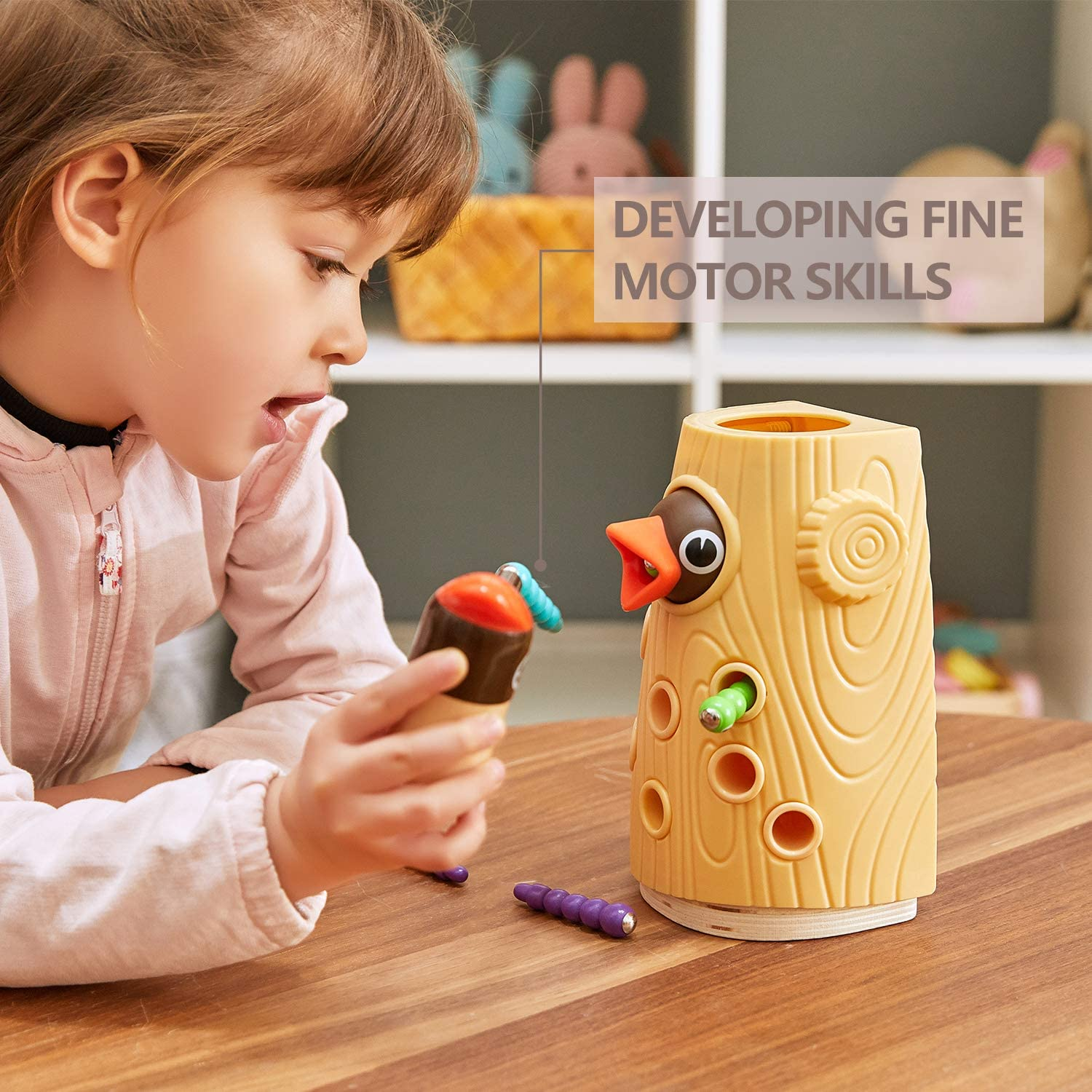 TOP BRIGHT Montessori Toys for 2 3 Year Old Girls and Boys Birthday Gift,...