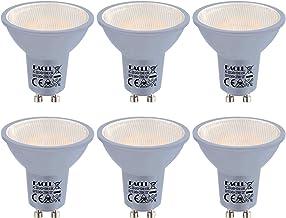 EACLL Led-gloeilamp, GU10, warmwit, 4,5 W, komt overeen met 35 W, halogeenlamp, AC 230 V, 2700 K, 425 lumen, geen knippere...