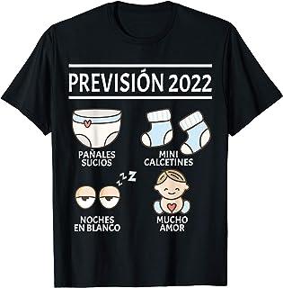 Regalos Originales para Padres Primerizos Embarazo, Prévision 2022 Papá Mamá Anuncio Embarazada Divertido Bebé Camiseta