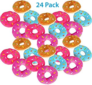 Bottles N Bags Plush Donuts with Sprinkles Value Pack | Fun Birthday Party Favors | 5