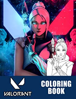 Valorant Coloring Book: Interesting coloring book, is a great choice for stress giarm increase for creativity suitable for...