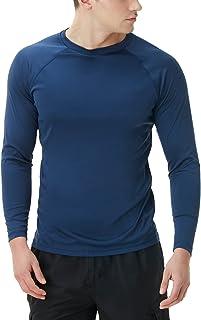 TSLA 1 or 2 Pack Men's Rashguard Swim Shirts, UPF 50+...