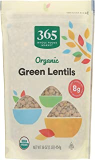 365 by Whole Foods Market, Organic Dry Beans, Green Lentils, 16 Ounce