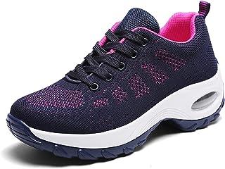 WOWEI Chaussures de Course pour Femmes Léger et Respirantes Mesh Chaussette Outdoors Sneakers Jogging Formateurs Baskets C...