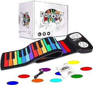 小さくてコンパクト SGTDロールピアノ49キー電子ピアノロールアップピアノ折りたたみ..