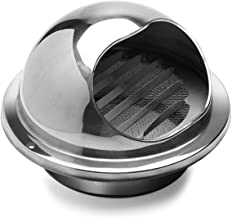 Hon&Guan 201 Stainless Steel Round Bull Nosed External Extractor Wall Vent Outlet 4 Inch