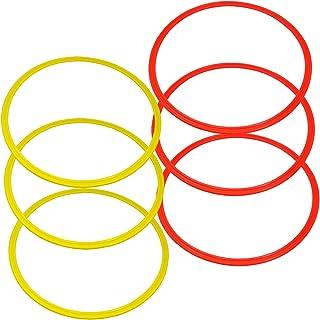 Bluedot Trading Agility & Speed Rings (6 Piece), Yellow/Orange