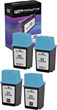 Speedy Inks Remanufactured Ink Cartridge Replacement for HP 29 & HP 49 (2 Black, 2 Tri-Color, 4-Pack)