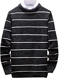 Men's Sweaters Tops Beautyfine Winter Casual Round Neck Long Sleeve Knitting Pullover Blouse