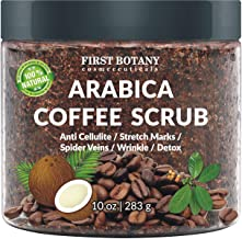 100% Natural Arabica Coffee Scrub with Organic Coffee, Coconut and Shea Butter –..